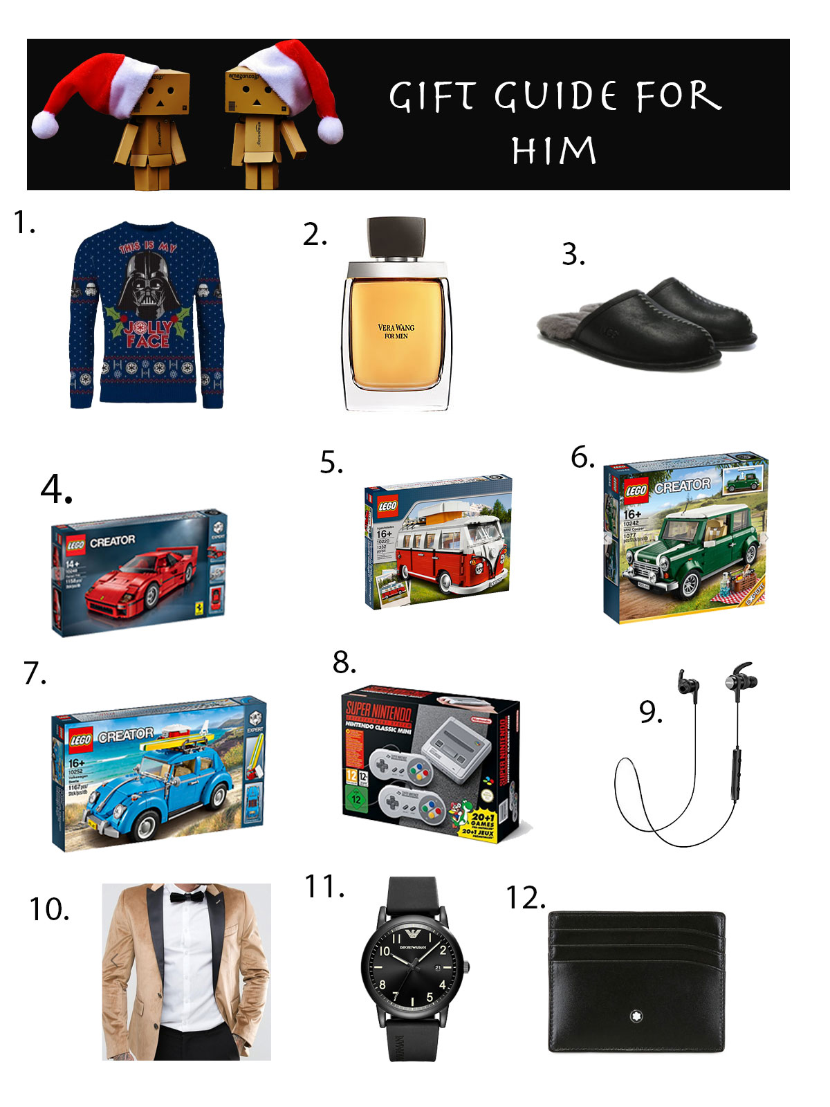 Holiday Gift guide for him - Christmas Gift Guide for Him - 2017