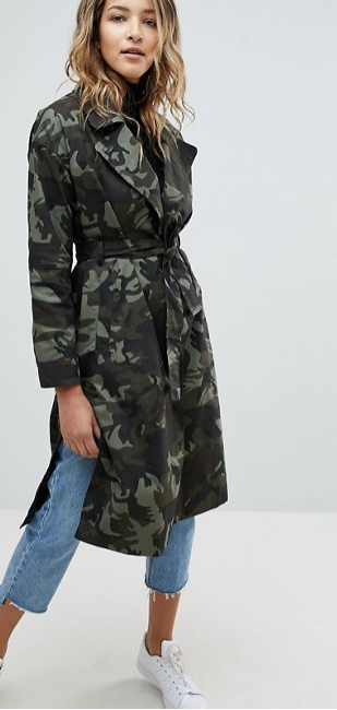 asos missguided camo - Style Classics: The Trench Coat