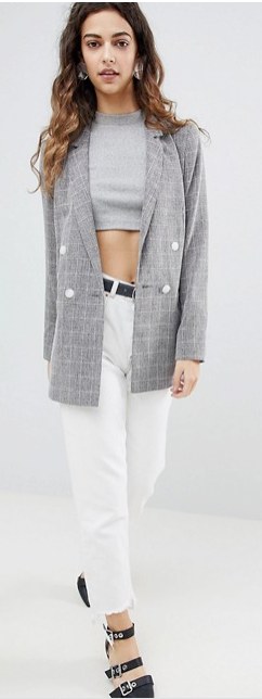 grey plaid blazer spring summer fashion - 6 Spring Summer Fashion Trends to add to your wardrobe