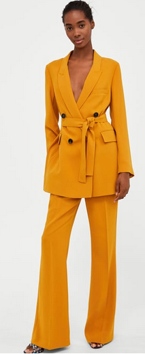 mustard trouser suit spring summer styles - 6 Spring Summer Fashion Trends to add to your wardrobe