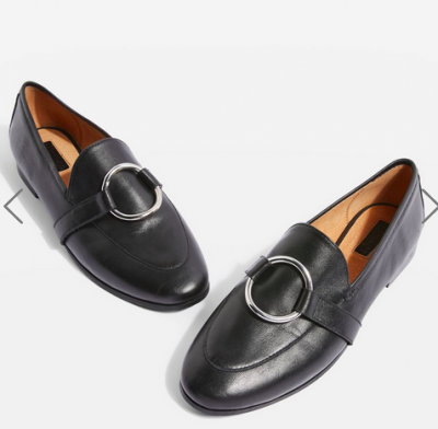 topshop black loafers 400x392 - Style Classics: The Trench Coat