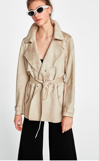 zara suede trench coat - Style Classics: The Trench Coat