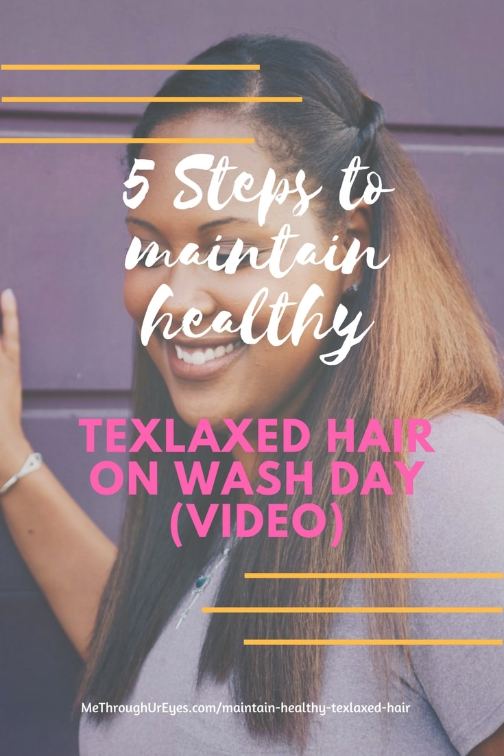 5 Steps to maintain Healthy Texlaxed hair on wash day - 5-Steps to maintain Healthy Texlaxed hair on wash day [video]