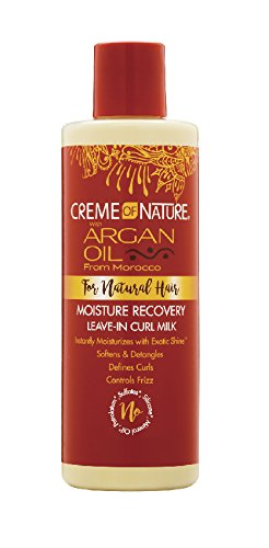 Creme of Nature with Argan Oil Moisture Recovery Leave in Curl Milk - 5-Steps to maintain Healthy Texlaxed hair on wash day [video]