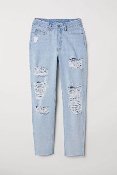 HM Slim Mom Jeans Trashed 400x600 - My Shop