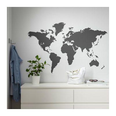 ikea klätta decoration stickers blackboard world 400x400 - My Shop