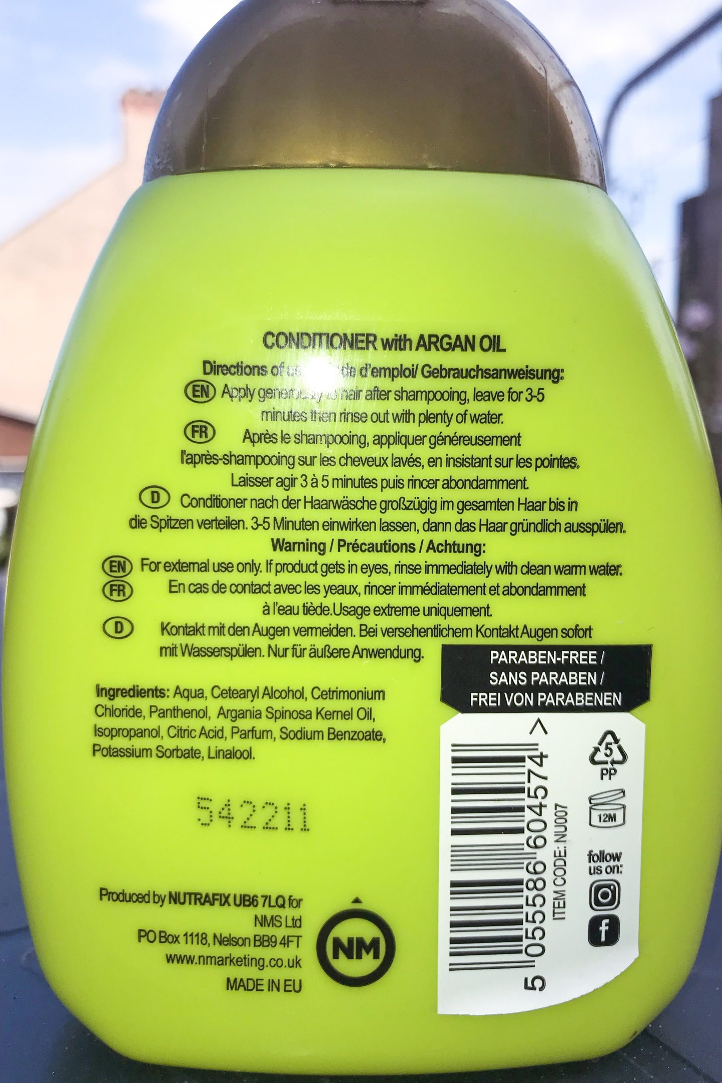 Nutrafix ingredients of conditioner 1440x2160 - Co-Washing - 4 steps to Ultra Moisturised Relaxed Hair [Video]