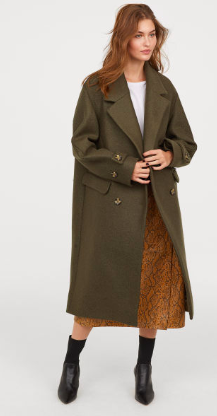 Double breasted coat khaki hm - The Fashion Edit - 8 of the BEST Fall Coats