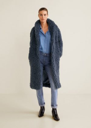 blue shearling coat mango 300x419 - The Fashion Edit - 8 of the BEST Fall Coats