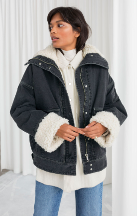 denim shearling coat andotherstories - The Fashion Edit - 8 of the BEST Fall Coats