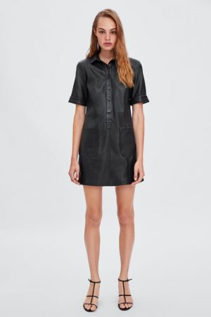 zara LEATHER EFFECT DRESS 300x450 - The Fashion Edit - 12 of the best New In