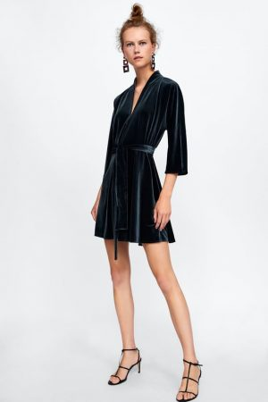 zara green velvet dress 300x450 - The Fashion Edit - 12 of the best New In