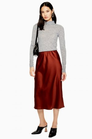 Satin Bias Cut Midi Skirt 300x450 - Black Friday Sales