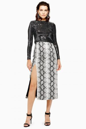 Snake Print Leather Look Pencil Skirt 300x450 - Black Friday Sales