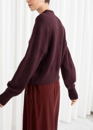 and other stories Mock Neck Sweater burgandy 300x420 - The Fashion Edit - 12 of the best New In