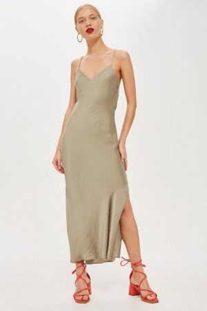 topshop khaki Satin Slip Dress 300x450 - The Fashion Edit - 12 of the best New In