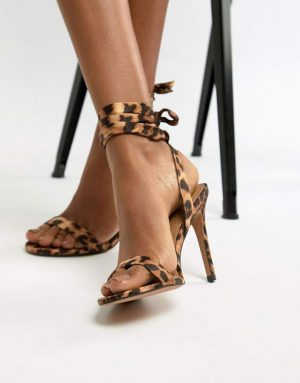 ASOS DESIGN Hatty barely there heeled sandals in leopard print 300x383 - The Fashion Edit - 12 of the Weekly Best