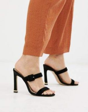 River Island heeled leather sandals with buckle strap in black 300x382 - The Fashion Edit - 12 of the Weekly Best