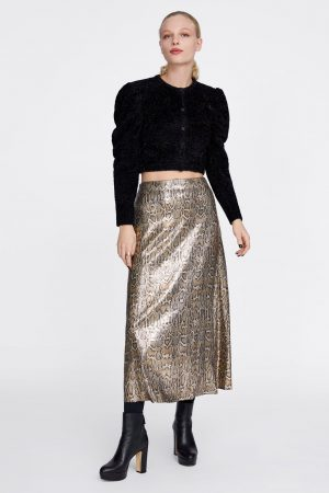 SNAKESKIN PRINT SEQUIN SKIRT 300x450 - The Fashion Edit - 12 of the Weekly Best